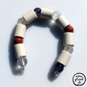EM Edelstein Energie Ring™ mit Jaspis für Wasserflasche
