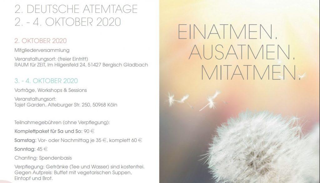 2. Deutsche Atemtage 2020 in Köln